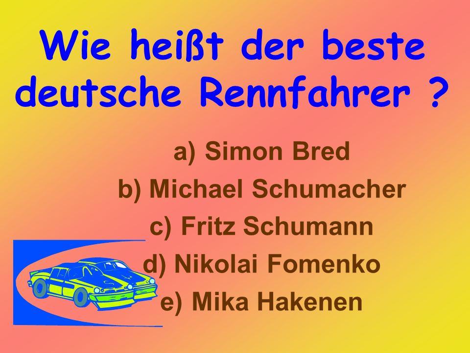 Wie heißt der beste deutsche Rennfahrer .
