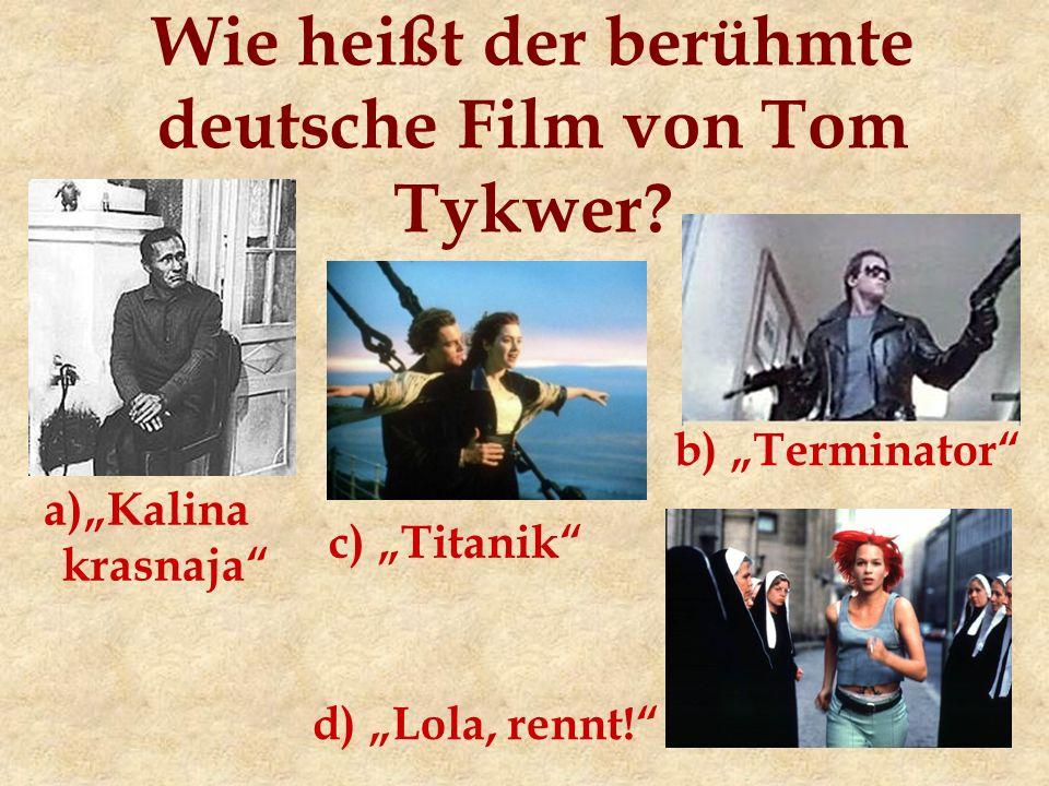 Wie heißt der berühmte deutsche Film von Tom Tykwer.