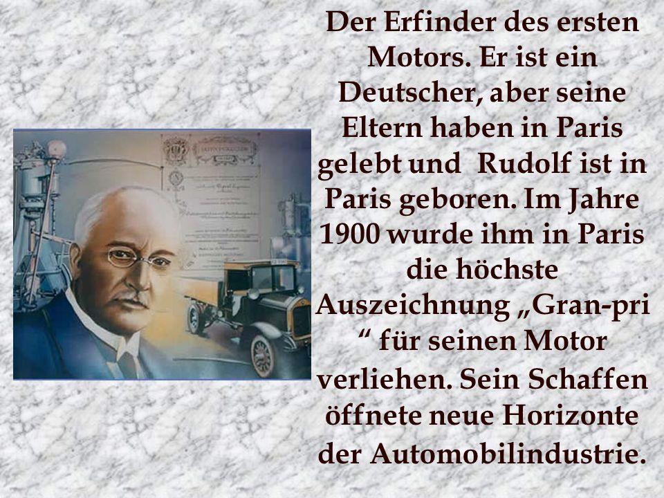 Der Erfinder des ersten Motors.