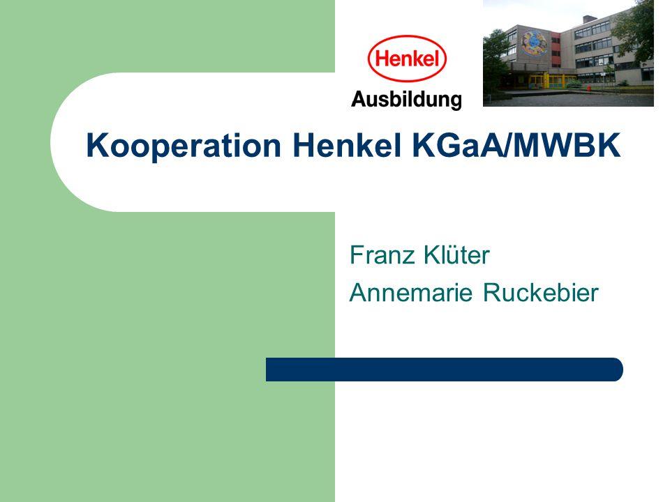 Kooperation Henkel KGaA/MWBK Franz Klüter Annemarie Ruckebier