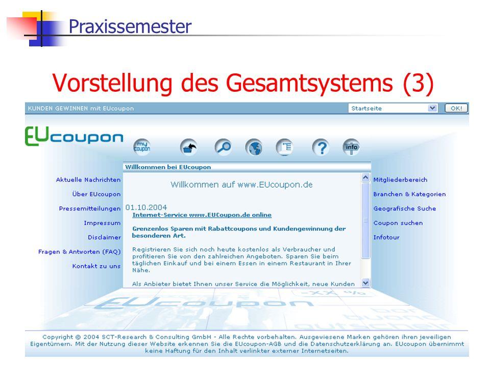 Praxissemester Vorstellung des Gesamtsystems (3)