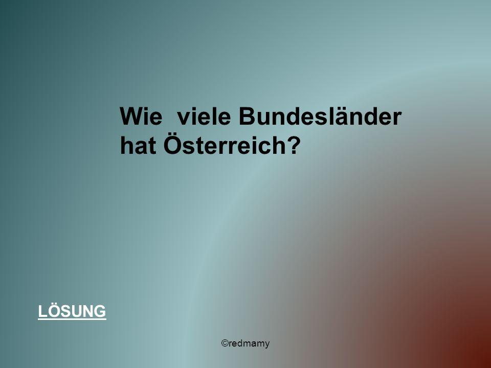 Wie viele Bundesländer hat Österreich? LÖSUNG ©redmamy