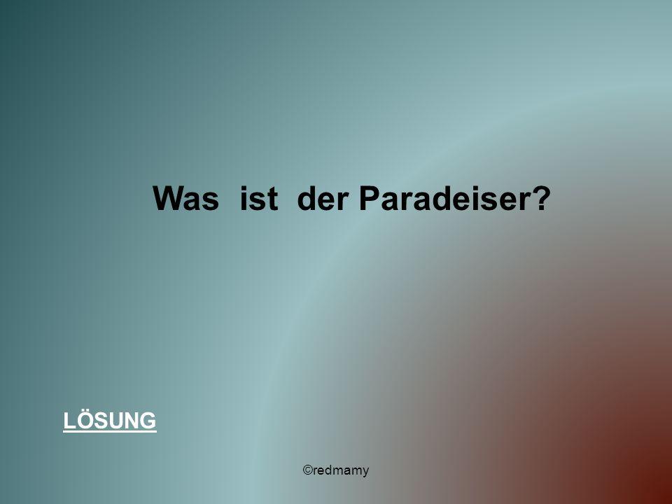 Was ist der Paradeiser? LÖSUNG ©redmamy