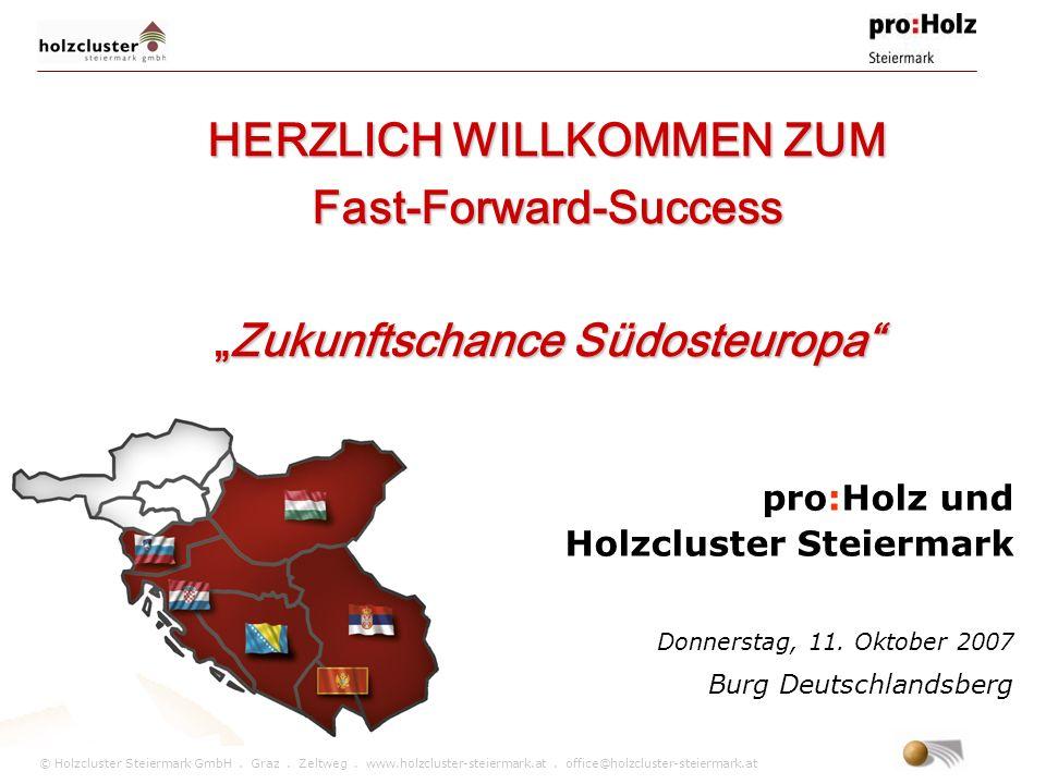 © Holzcluster Steiermark GmbH. Graz. Zeltweg. www.holzcluster-steiermark.at. office@holzcluster-steiermark.at pro:Holz und Holzcluster Steiermark Donn