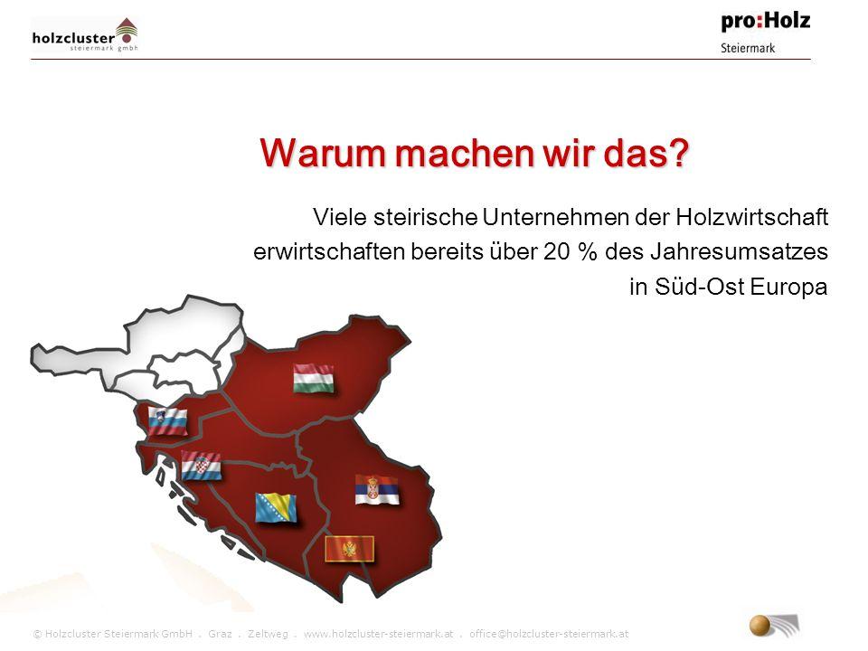 © Holzcluster Steiermark GmbH. Graz. Zeltweg. www.holzcluster-steiermark.at. office@holzcluster-steiermark.at Warum machen wir das? Viele steirische U