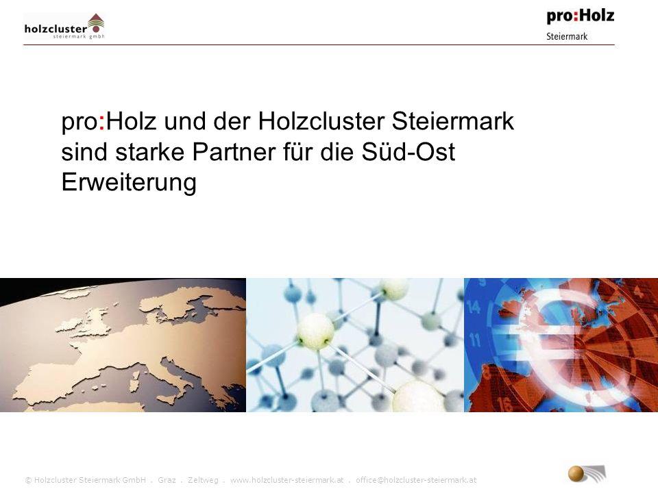 © Holzcluster Steiermark GmbH. Graz. Zeltweg. www.holzcluster-steiermark.at. office@holzcluster-steiermark.at pro:Holz und der Holzcluster Steiermark