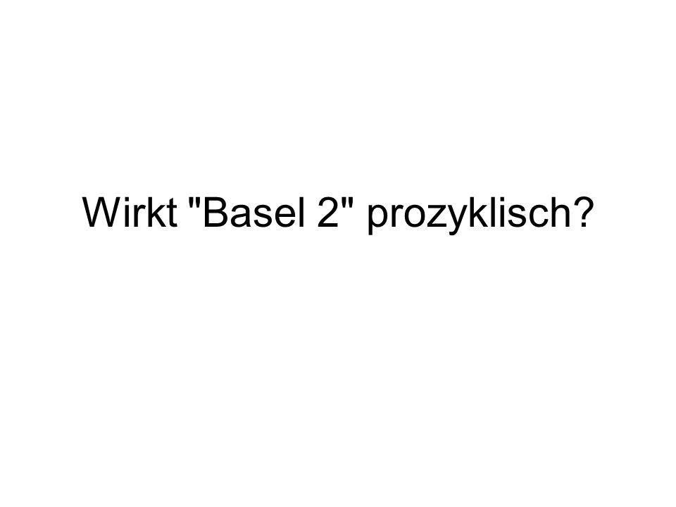Wirkt Basel 2 prozyklisch?