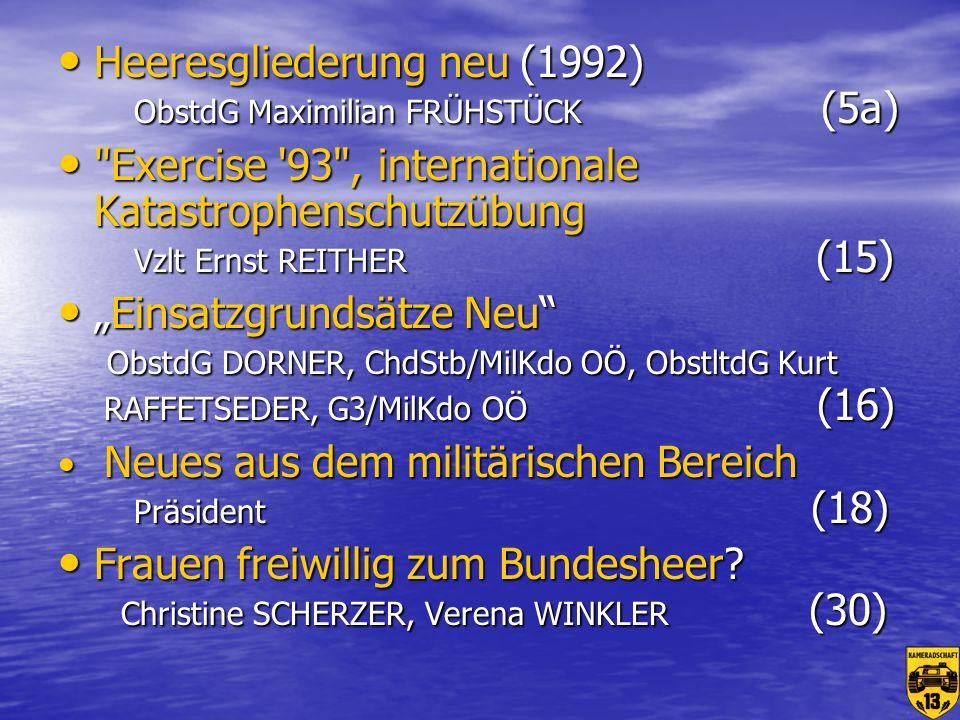 Besuch bei der Schweizer Armee (mit Dias) Hptm Andreas HOLZINGER (35) Besuch bei der Schweizer Armee (mit Dias) Hptm Andreas HOLZINGER (35) Überblick über die beschlossenen Panzerankäufe für das öBH.
