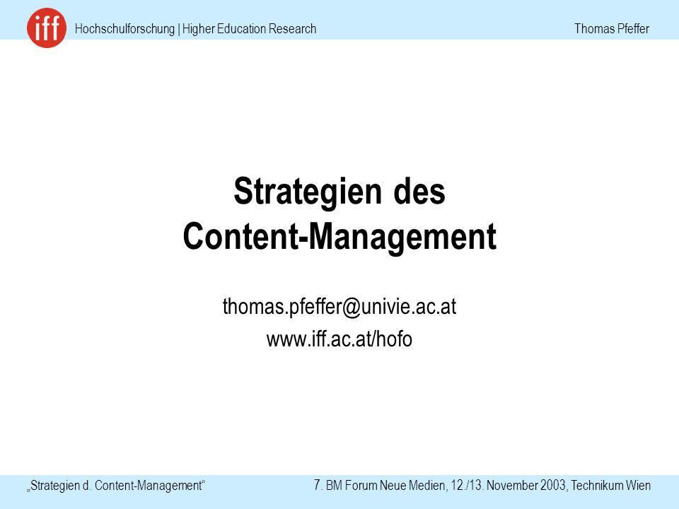 Hochschulforschung | Higher Education Research Thomas Pfeffer Strategien d.