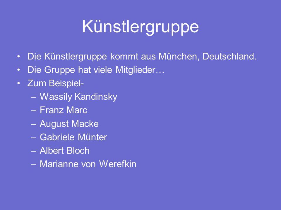 Bezeichnung Wassily Kandinsky und Franz Marc haben Der Blaue Reiter bezeichnung für ihre Ausstellungs gemacht.