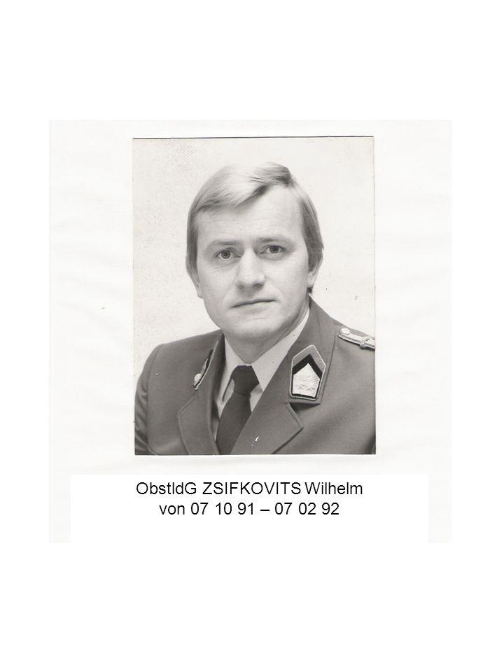 ObstldG ZSIFKOVITS Wilhelm von 07 10 91 – 07 02 92