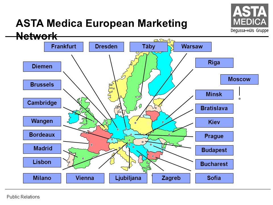 ASTA Medica Worldwide Affiliates Scientific Offices Production Plant Public Relations