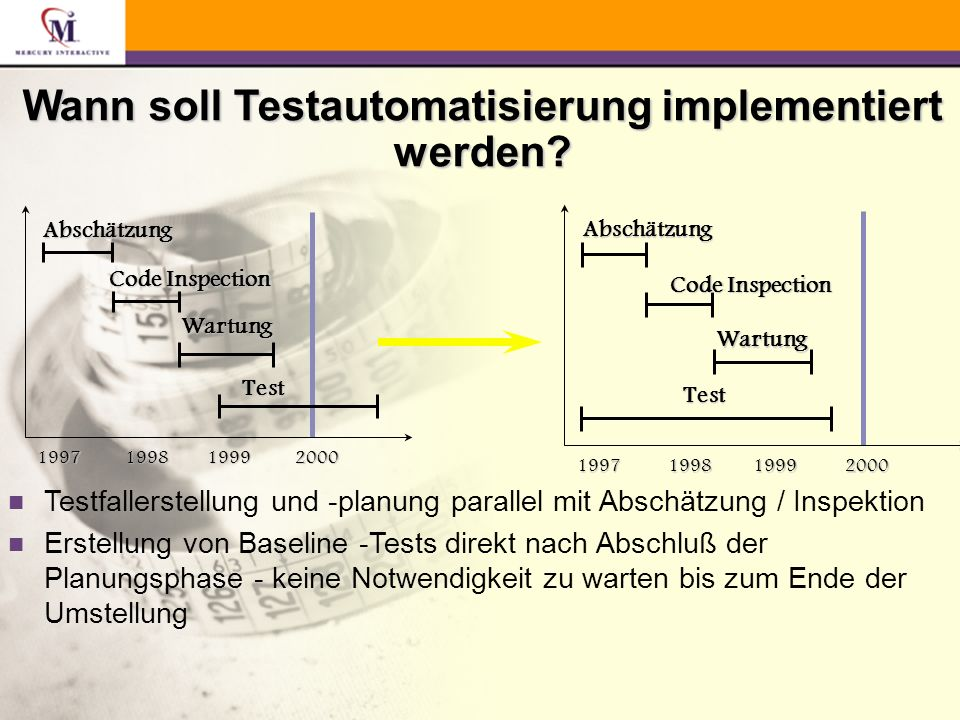 Wann soll Testautomatisierung implementiert werden.