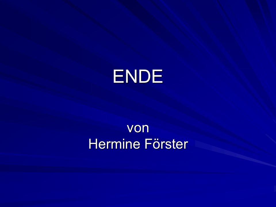 ENDE von Hermine Förster