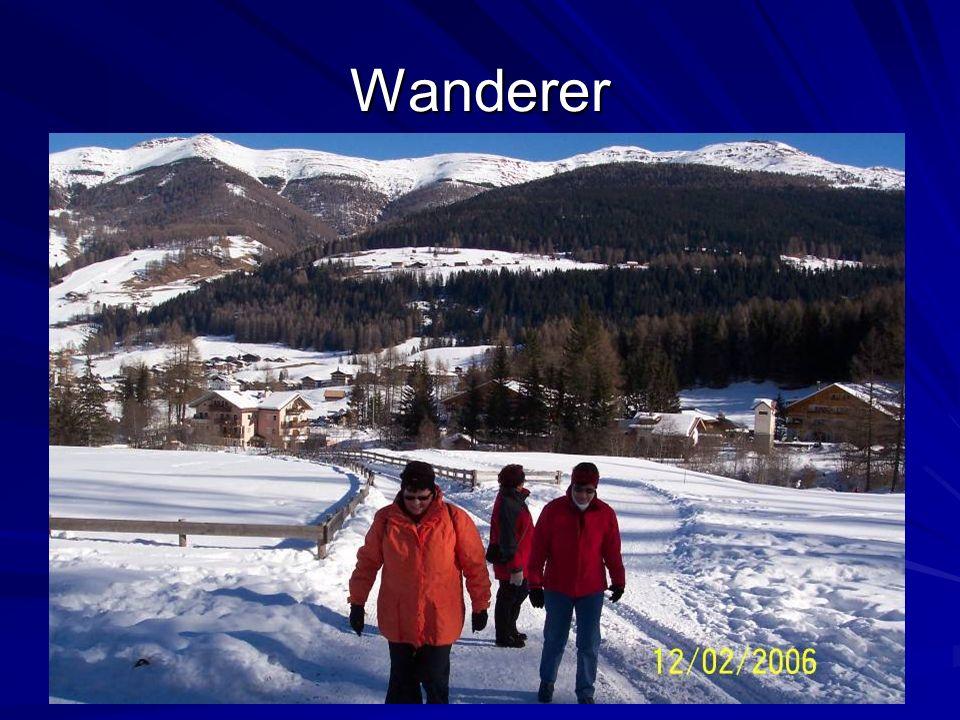 Langläufer und Wanderer