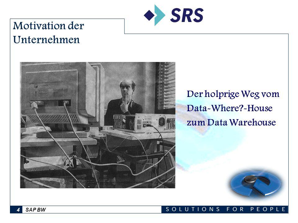 SAP BW4 Motivation der Unternehmen Der holprige Weg vom Data-Where?-House zum Data Warehouse