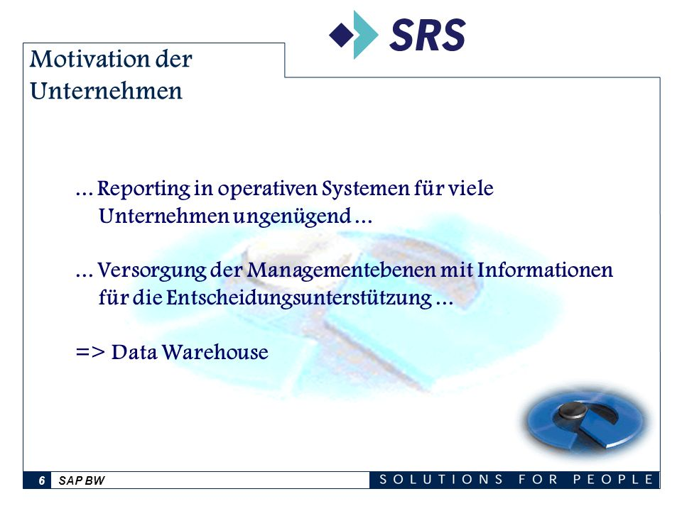 SAP BW7 Das Business Information Warehouse - BW Data Warehouse-Lösung der SAP AG mit eigener Anwendungsumgebung eigenem Server eigener Datenbank per 10.