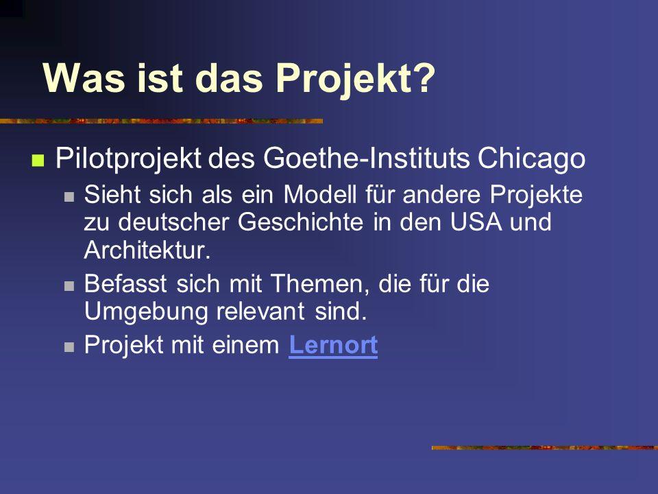 Zur Planung des Projekts: Timeline: Konzeption der Idee Februar/März 2002 Fachberater Dr.