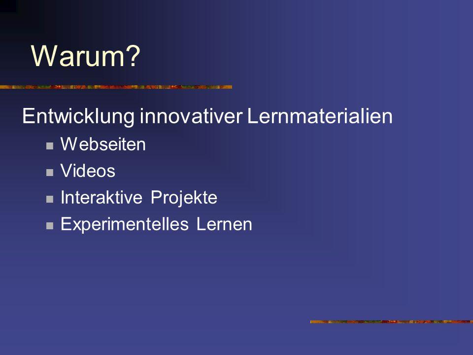 Zur Planung des Projekts: Timeline: Januar 2003 --> Diskussionen mit Schweizer Repräsentanten Diskussionen mit Österreicher Repräsentanten Diskussionen zur Finanzierung von CD-Rom und gedruckten Materialien Erweiterung des Projekts auf andere Bereiche