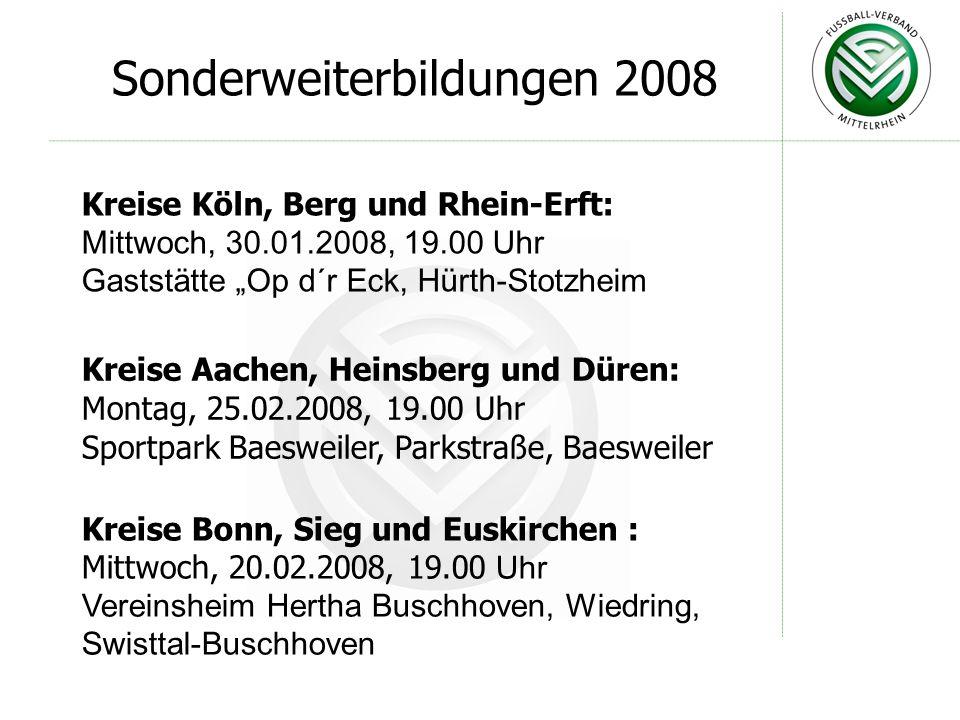 FVM-Verbandslehrstab Präsentation zu den Sonderfortbildungen 2008