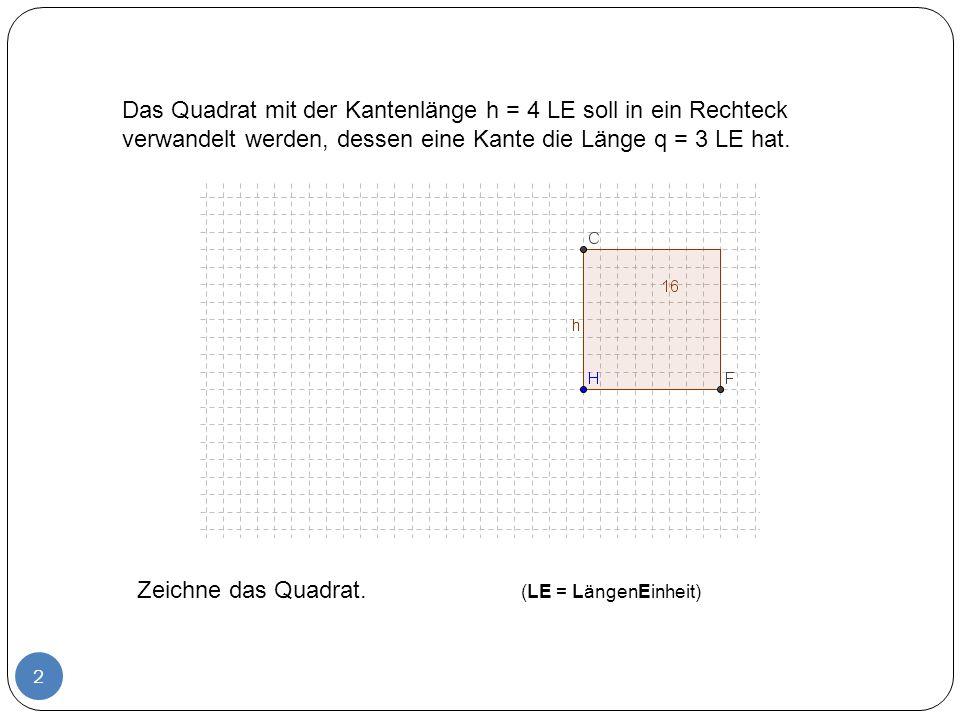 3 Zeichne die Gerade g 1 durch H und F und die Gerade g 2 durch H und C.