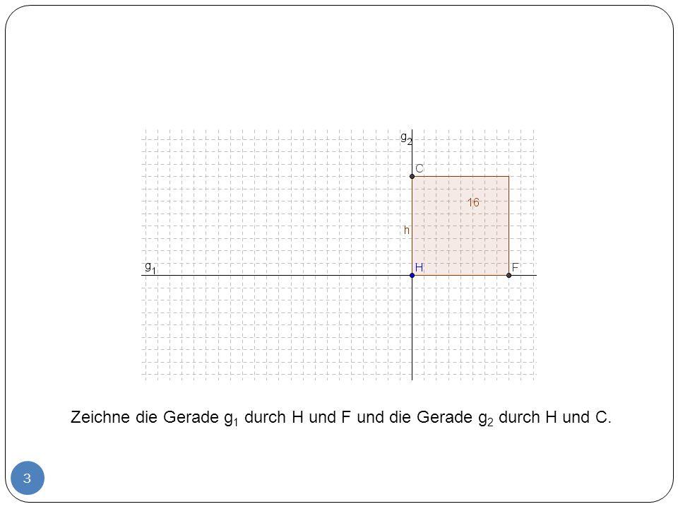 4 Kreis um H mit Radius q.Der Schnittpunkt mit g 1 ist der Punkt B.