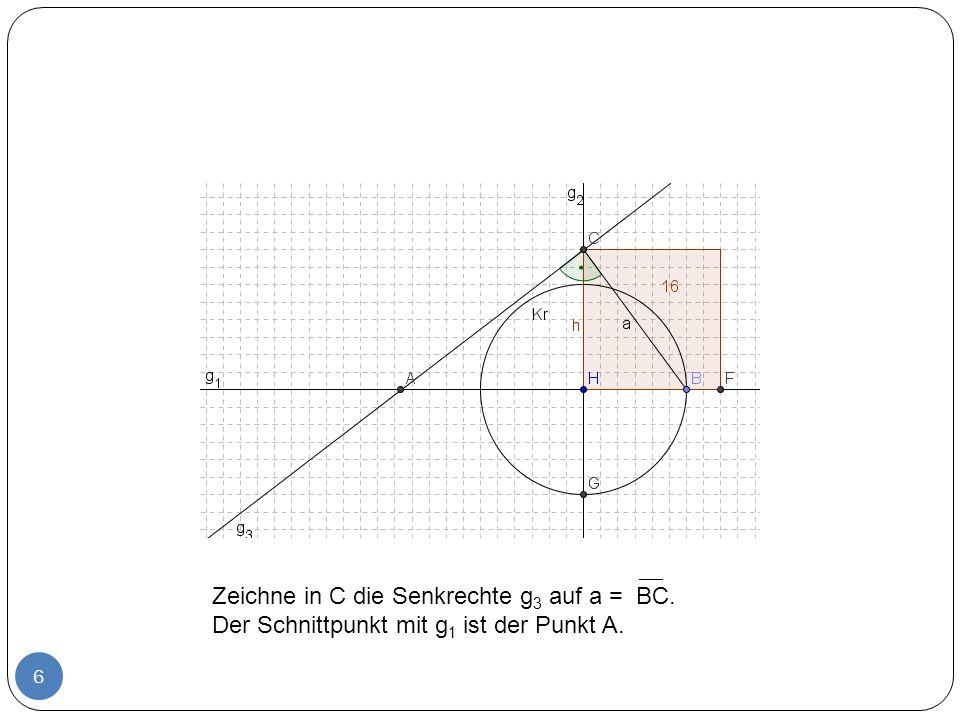7 Zeichne die Parallele g 4 zu g 2 durch den Punkt A.
