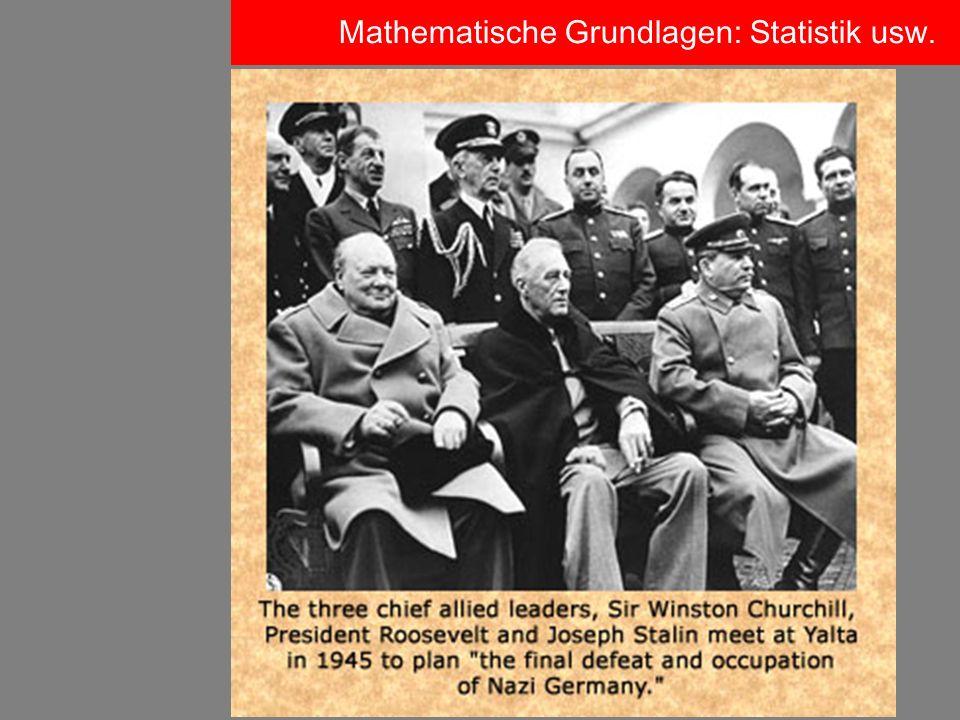 Mathematische Grundlagen: Statistik usw.