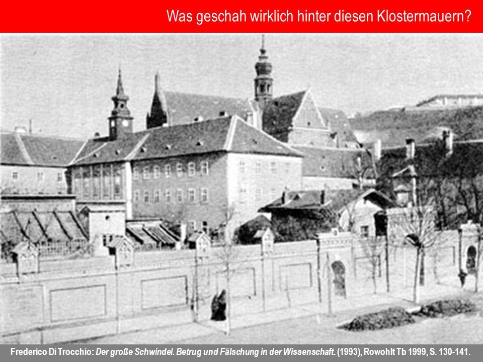 Was geschah wirklich hinter diesen Klostermauern? Frederico Di Trocchio: Der große Schwindel. Betrug und Fälschung in der Wissenschaft. (1993), Rowohl