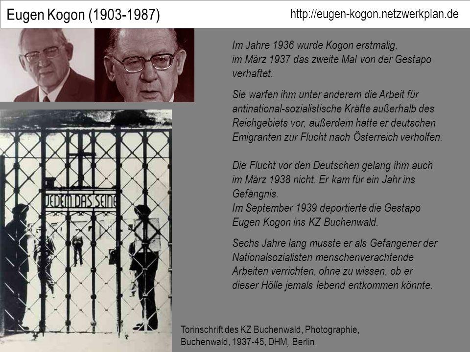 Eugen Kogon (1903-1987) Die Flucht vor den Deutschen gelang ihm auch im März 1938 nicht.