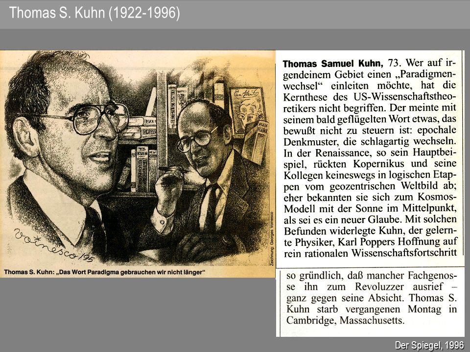 Thomas S. Kuhn (1922-1996) Der Spiegel, 1996