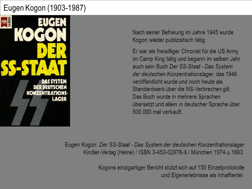 Nach seiner Befreiung im Jahre 1945 wurde Kogon wieder publizistisch tätig.