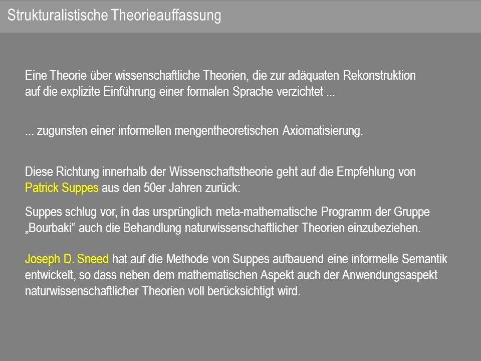 Eine Theorie über wissenschaftliche Theorien, die zur adäquaten Rekonstruktion auf die explizite Einführung einer formalen Sprache verzichtet......