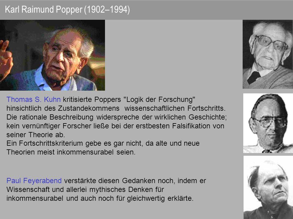 Thomas S. Kuhn kritisierte Poppers