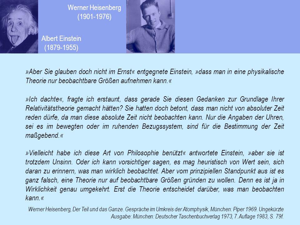 Einsteins Relativitätstheorie besagt, dass kein physikalisches Bezugssystem vor einem anderen ausgezeichnet ist, dass es unendlich viele eigenständige Systeme mit eigener Zeit gibt, zwischen denen man zwar Bezüge knüpfen kann, die sich aber nicht als ein Ganzes darstellen lassen.