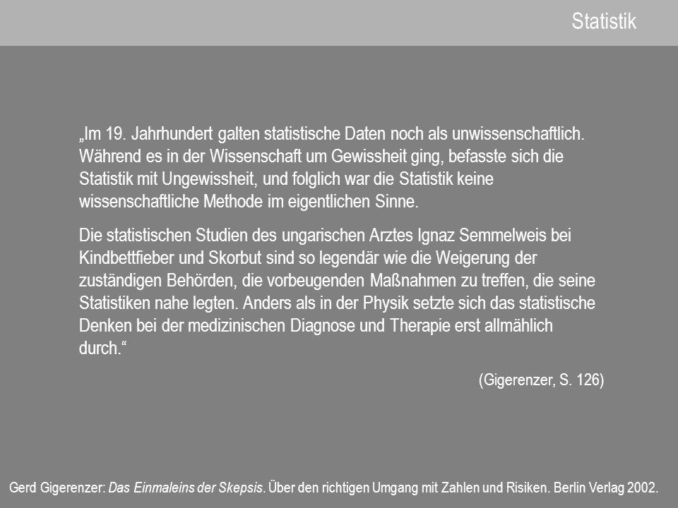 Gerd Gigerenzer: Das Einmaleins der Skepsis.Über den richtigen Umgang mit Zahlen und Risiken.