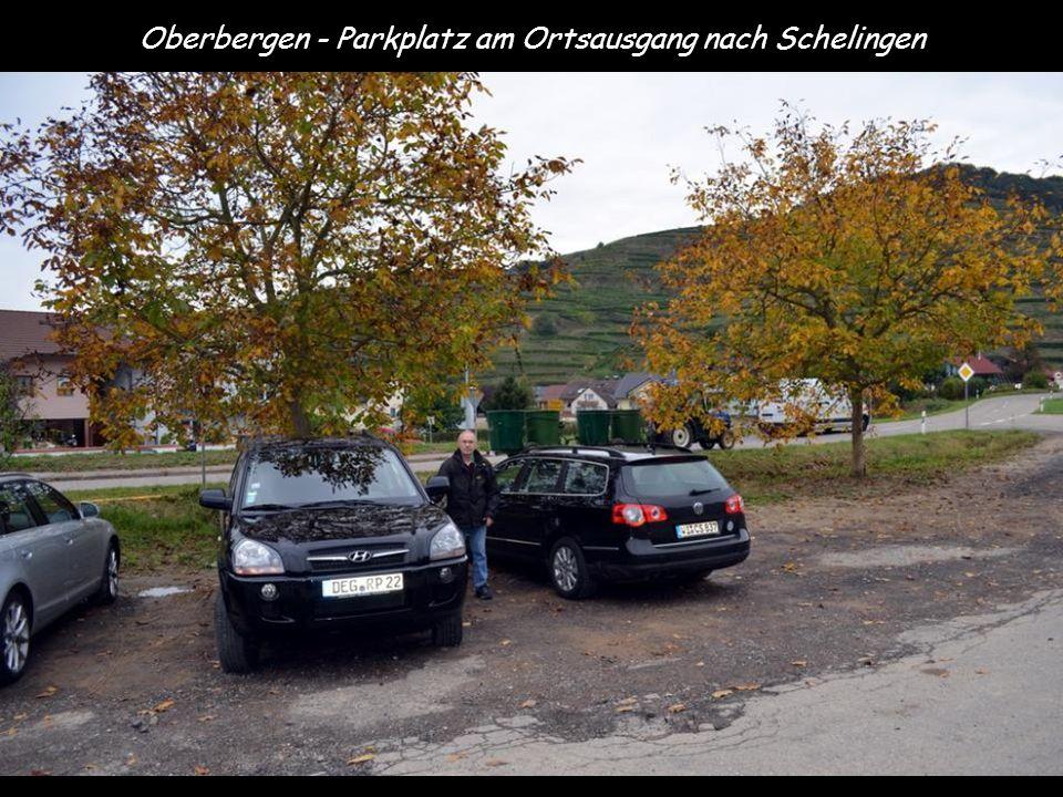 Oberbergen - Parkplatz am Ortsausgang nach Schelingen