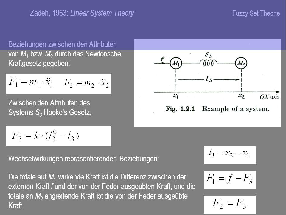 Beziehungen zwischen den Attributen von M 1 bzw.
