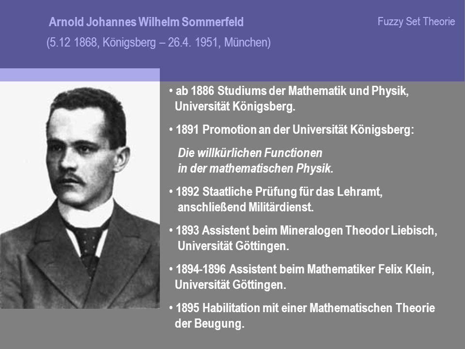 ab 1886 Studiums der Mathematik und Physik, Universität Königsberg.