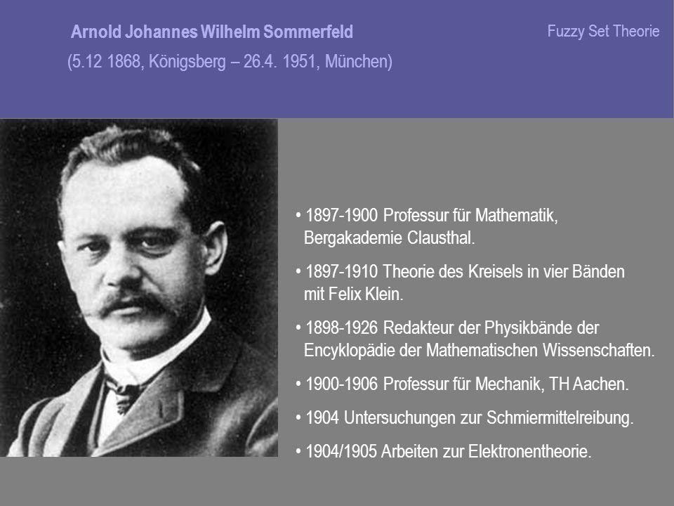 1897-1900 Professur für Mathematik, Bergakademie Clausthal.