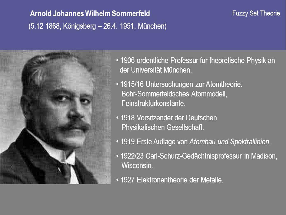 1906 ordentliche Professur für theoretische Physik an der Universität München.