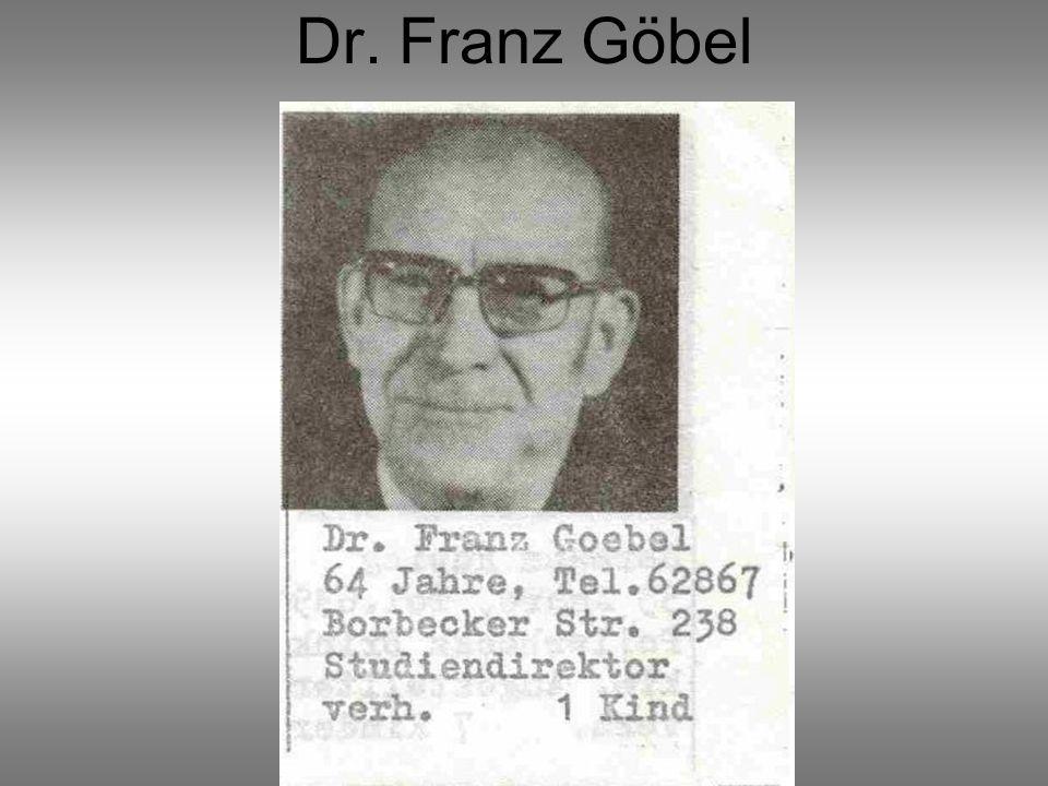 Dr. Franz Göbel