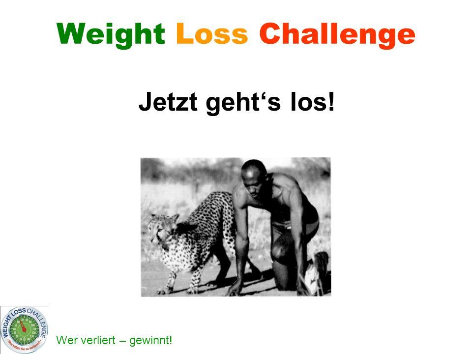 Wer verliert – gewinnt! Weight Loss Challenge Jetzt gehts los!