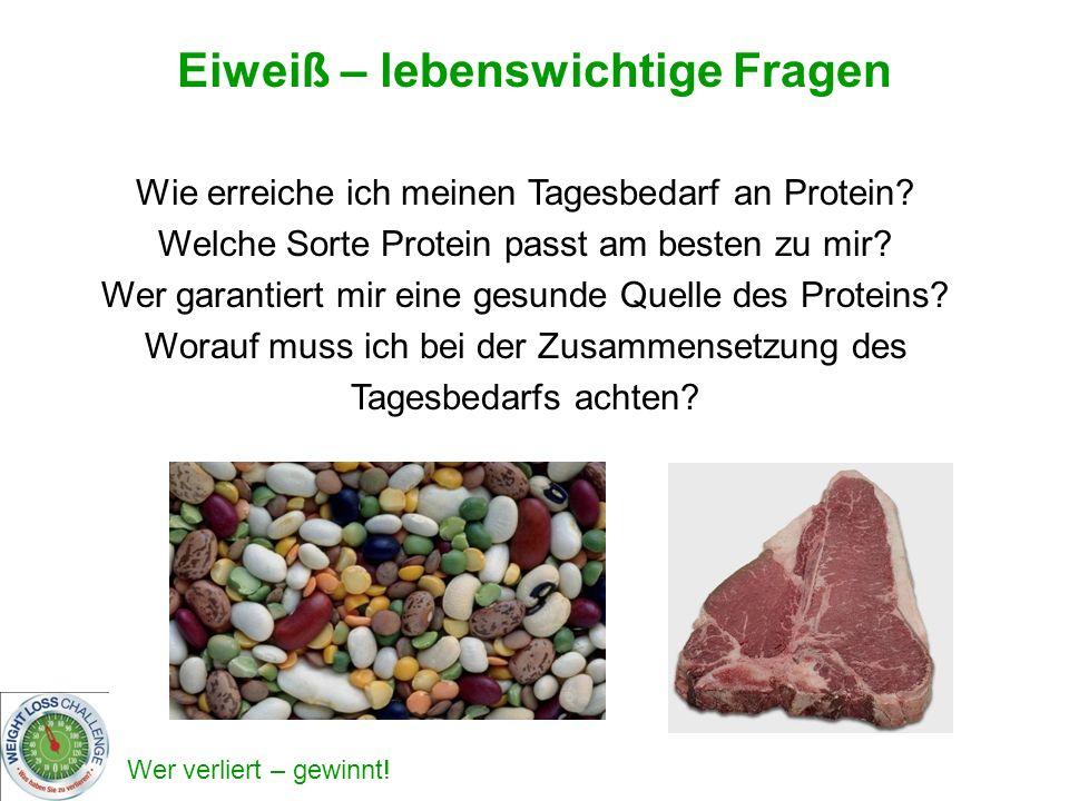 Wie erreiche ich meinen Tagesbedarf an Protein? Welche Sorte Protein passt am besten zu mir? Wer garantiert mir eine gesunde Quelle des Proteins? Wora