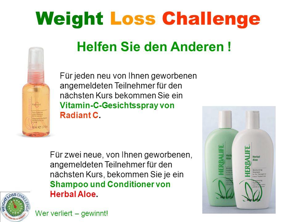 Wer verliert – gewinnt! Für zwei neue, von Ihnen geworbenen, angemeldeten Teilnehmer für den nächsten Kurs, bekommen Sie je ein Shampoo und Conditione