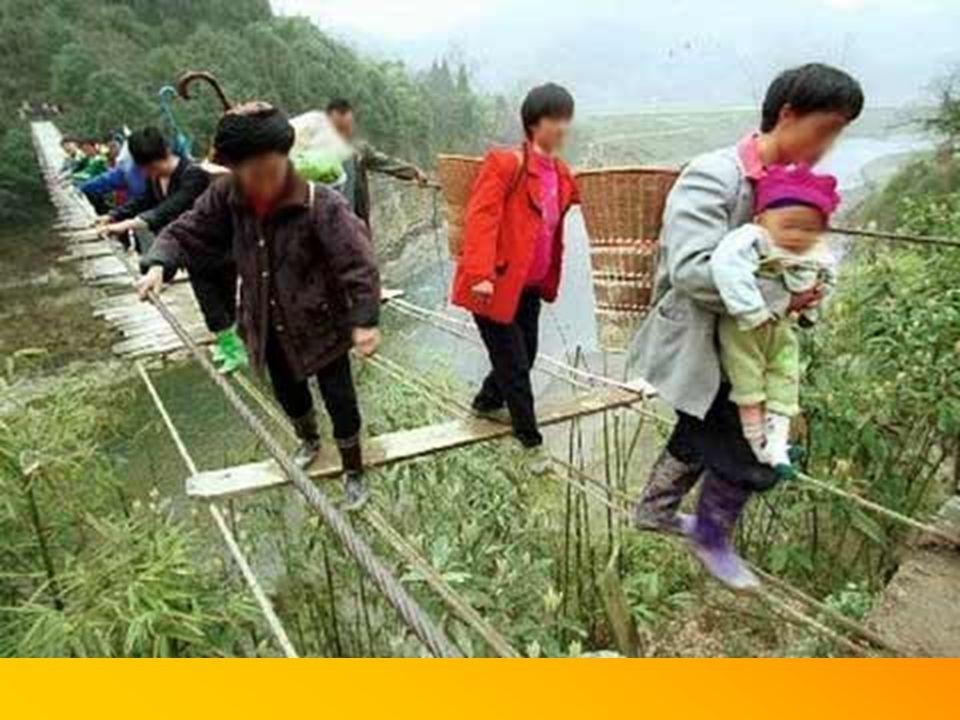 Zum Einkaufen ins Dorf musste man nur eine Brücke überqueren