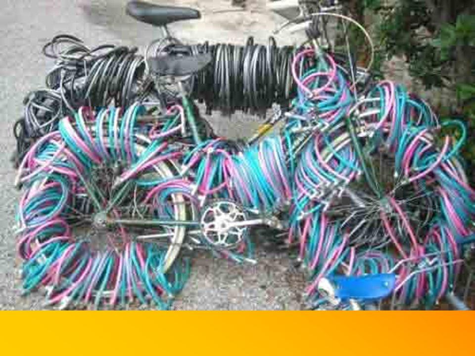 Nur die Fahrräder sollten ordentlich abgeschlossen werden!