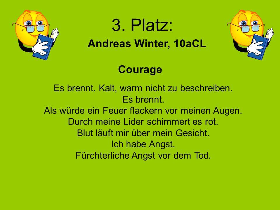 4. Platz: Georg Gilvers Nicole Wulff, 11aBÜ