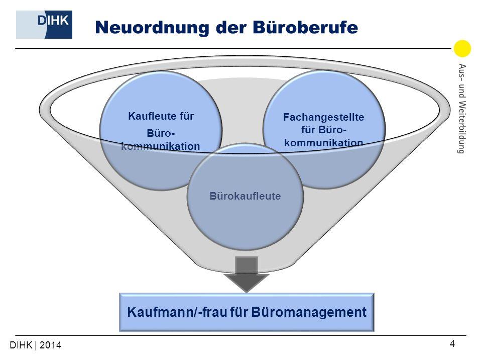 5 Eckdaten des neuen Büroberufs Ausbildungsberufsbezeichnung: Kaufmann/-frau für Büromanagement Ausbildungsdauer: 3 Jahre Inkrafttreten: 1.