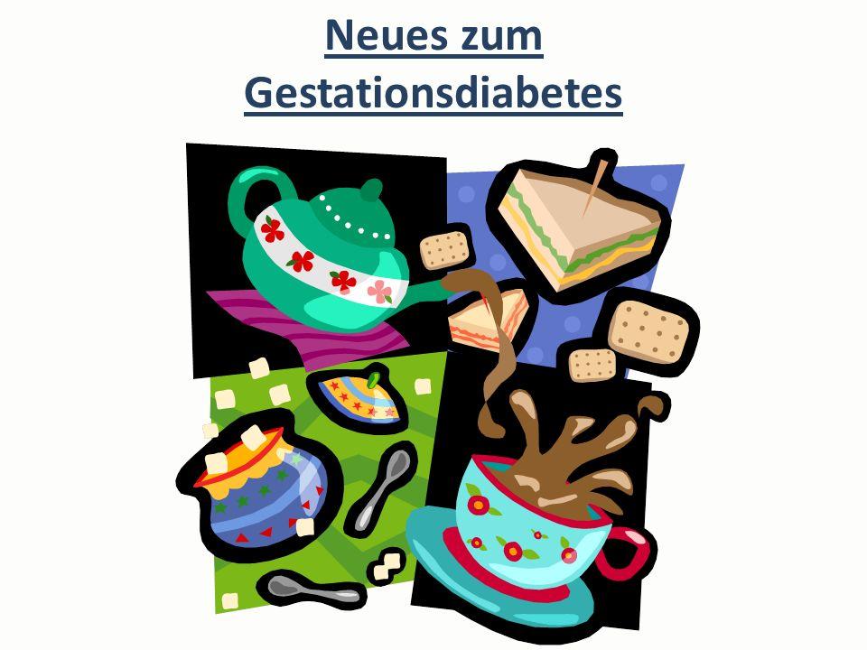 Neues zum Gestationsdiabetes
